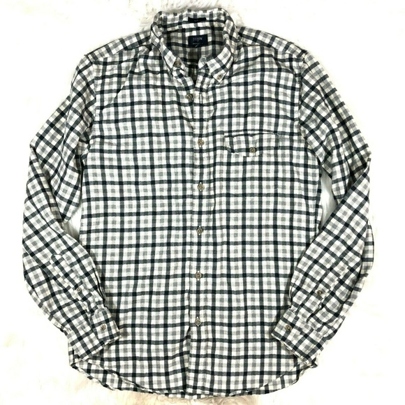 J. Crew Factory Other - J.Crew Brushed Twill Plaid Flannel Shirt Slim FLAW
